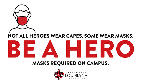 be a hero. wear a mask.