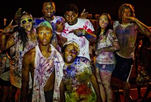 Splatterbeat is a paint party hosted by RHA in the Fall